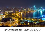 Night View Of The City Of Baku...