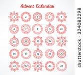 christmas advent calendar with... | Shutterstock .eps vector #324082298