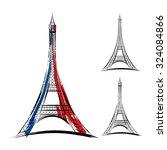vector eiffel tower in france... | Shutterstock .eps vector #324084866