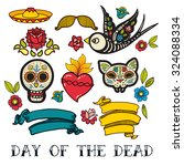 icons  of day of the dead  a... | Shutterstock .eps vector #324088334