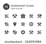 workshop icons. | Shutterstock .eps vector #324092984