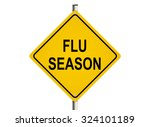 flu season. road sign on the...   Shutterstock . vector #324101189