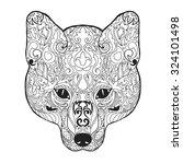 Fox Head. Adult Antistress...