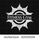 fitness gym chalkboard emblem | Shutterstock .eps vector #324105206