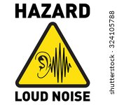 hazard  loud noise. vector icon | Shutterstock .eps vector #324105788
