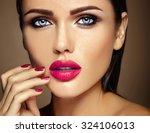 sensual glamour warm portrait... | Shutterstock . vector #324106013