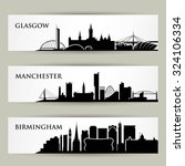 united kingdom city skylines  ... | Shutterstock .eps vector #324106334