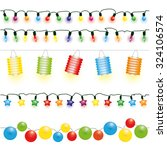 christmas and party lights... | Shutterstock .eps vector #324106574