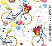 hand drawn watercolor pattern...   Shutterstock . vector #324109760