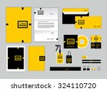 corporate identity template for ...   Shutterstock .eps vector #324110720
