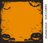 halloween themed background... | Shutterstock .eps vector #324110894