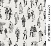 pattern of the pedestrians   Shutterstock .eps vector #324111209