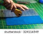 Cloth Cutting Process   Woman's ...
