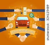 used cars reselling concept... | Shutterstock .eps vector #324125489