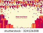 colorful gift boxes  triangular ... | Shutterstock .eps vector #324126308