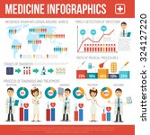 medical infographics set with... | Shutterstock .eps vector #324127220