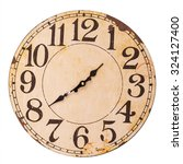 Vintage Clock Isolated On Whit...
