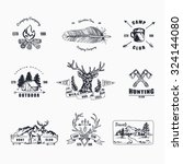 hand drawn logo set. retro... | Shutterstock .eps vector #324144080