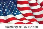 vector american flag | Shutterstock .eps vector #32414428