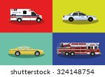 a set of service cars. police ... | Shutterstock .eps vector #324148754