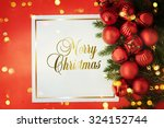 christmas card with space and... | Shutterstock . vector #324152744
