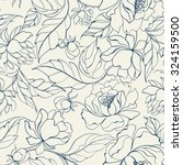 seamless floral pattern with... | Shutterstock .eps vector #324159500