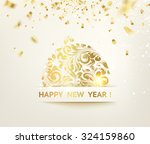christmas ball with curves of... | Shutterstock .eps vector #324159860