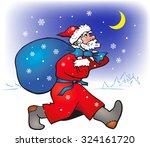new year night. santa claus... | Shutterstock .eps vector #324161720