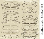vintage set of calligraphic... | Shutterstock .eps vector #324163124