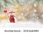 christmas background with... | Shutterstock . vector #324166484