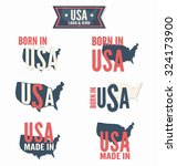 set of made in the usa  vector... | Shutterstock .eps vector #324173900