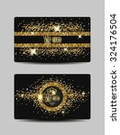 shiny vip gold cards | Shutterstock .eps vector #324176504