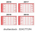 full year wall planners for... | Shutterstock .eps vector #324177194