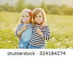 Two Little Friends Girls In Th...