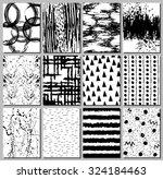 set of 12 handmade journaling... | Shutterstock .eps vector #324184463