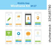 mobile wireframe app ui kit 27. ...