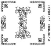 letter i  floral design. | Shutterstock .eps vector #324186584