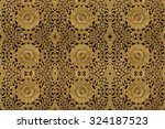 wood gold pattern carve close | Shutterstock . vector #324187523