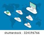 vector modern cloud services...   Shutterstock .eps vector #324196766