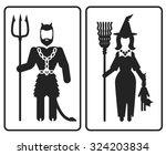 fantasy contour vector icons of ... | Shutterstock .eps vector #324203834