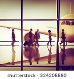 business people traveling... | Shutterstock . vector #324208880