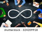 infinity eternity endless loop... | Shutterstock . vector #324209918