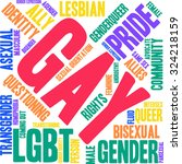 gay word cloud on a white... | Shutterstock .eps vector #324218159