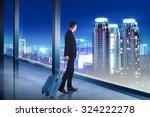 asian business man carry... | Shutterstock . vector #324222278