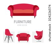 sofa business sign set vector... | Shutterstock .eps vector #324226574