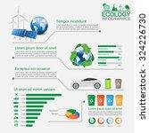 green ecology infographic vector | Shutterstock .eps vector #324226730