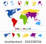 colorful world map with...   Shutterstock .eps vector #324228536