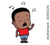 boy singing | Shutterstock .eps vector #32423176