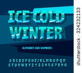 ice alphabet and numbers ... | Shutterstock .eps vector #324232133