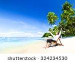 happy successful businessman... | Shutterstock . vector #324234530